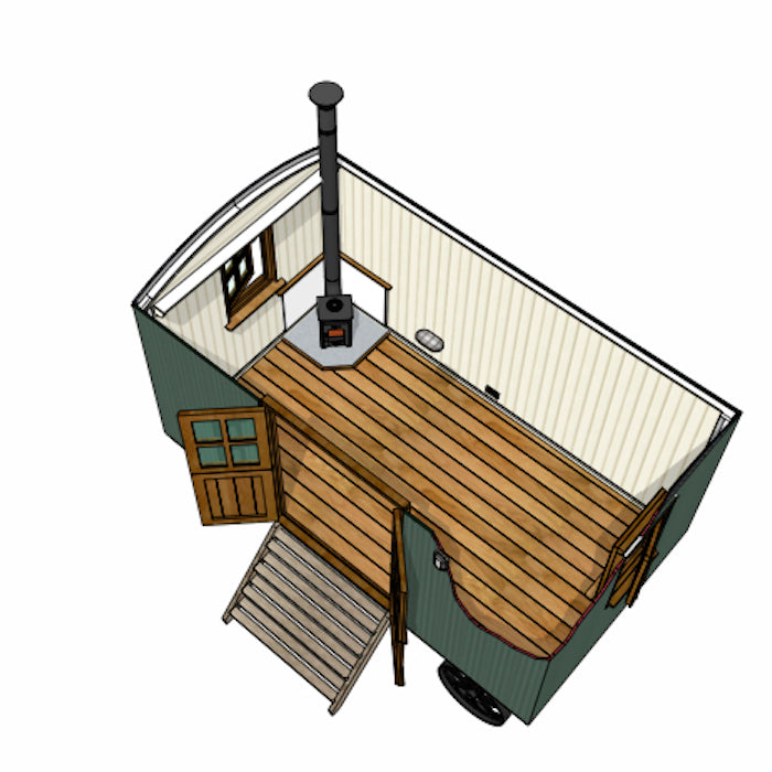 Model A Plankbridge 14' Cabin Shepherd's Hut