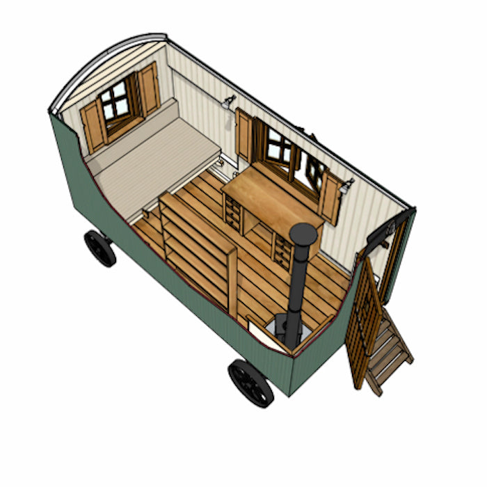 Model B Plankbridge 14' Snug Shepherd's Hut