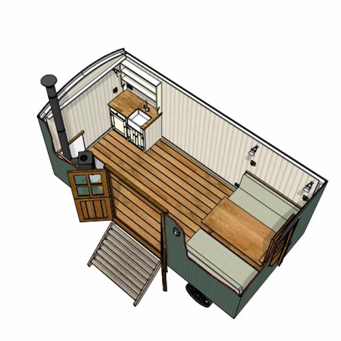 Model B Plankbridge 16' Cabin Shepherd's Hut