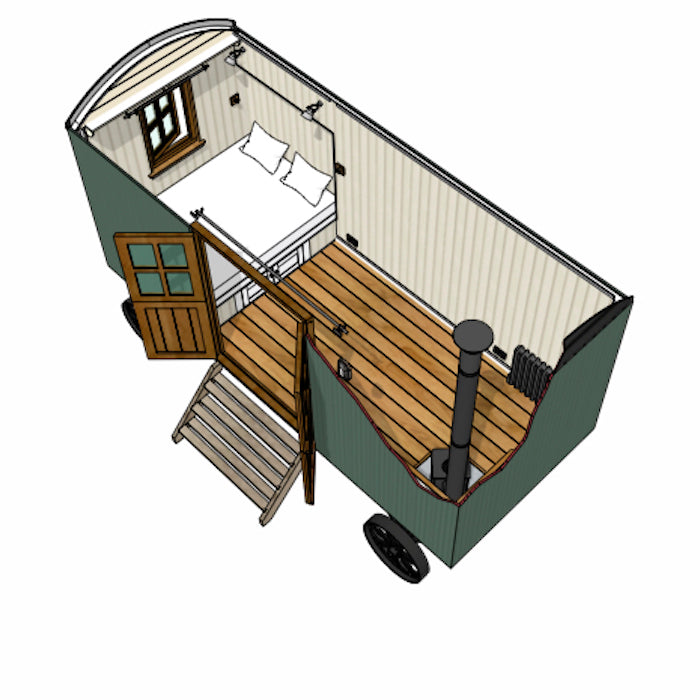 Model C Plankbridge 16' Snug Shepherd's Hut