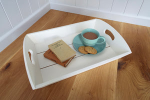 Painted White Tray