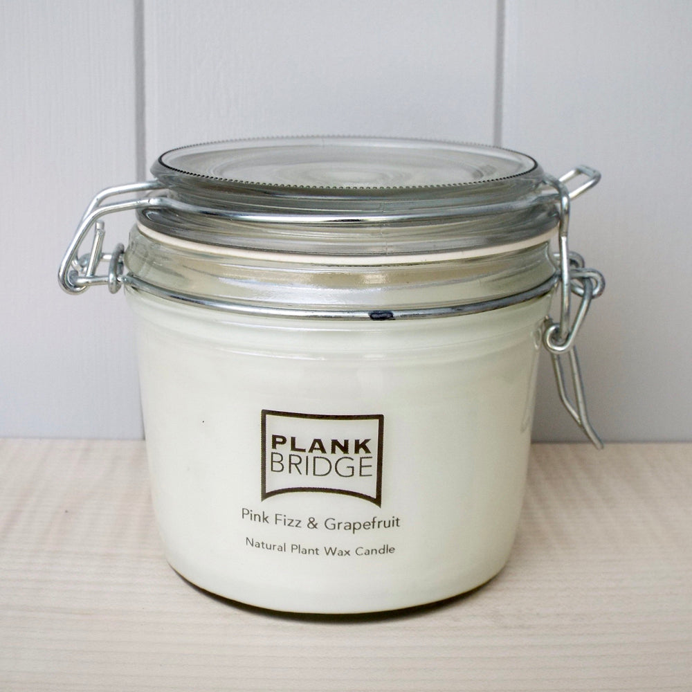 Pink Fizz & Grapefruit Scented Kilner Jar Candle