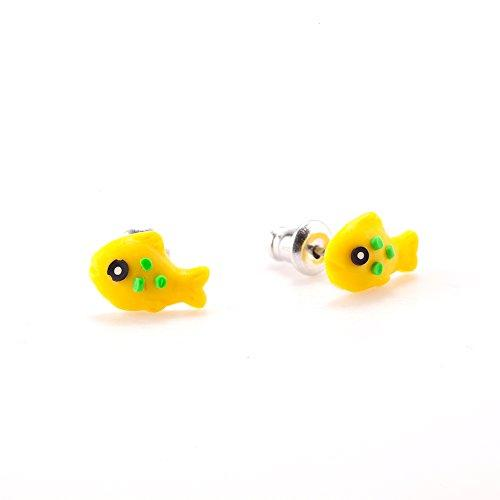 f234a0d60 9 Pair Sets Cute Sea Animals Hypoallergenic Nickel-free Stud Earrings Set  For Kids Girl