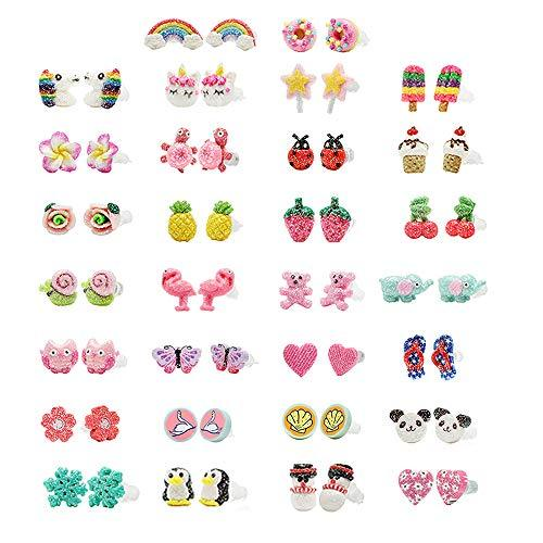 80a95e315a686 minihope Hypoallergenic Plastic Post Earrings for Girls, Cute ...
