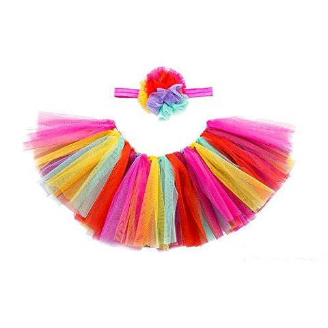 minihope Baby Girls' Tutu Skirt for Newborn Toddler Dress up with Headband, Fashion Outfits Photography Props