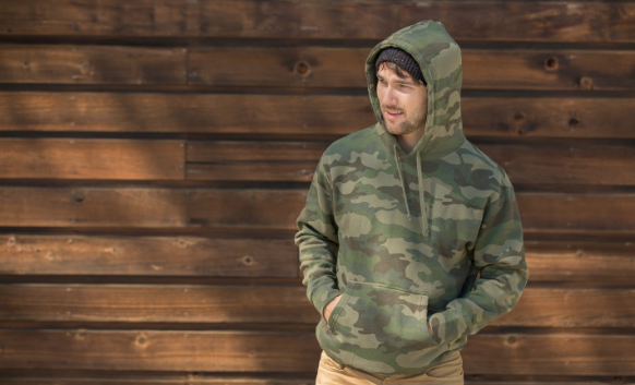 cacoon camo hoodie