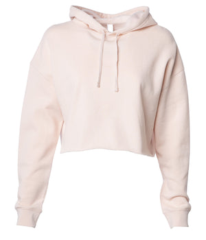 Queen Bee Blush Crop Top Hoodie