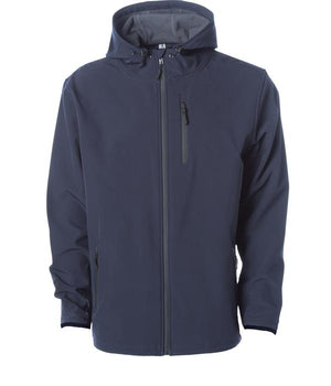 soft shell blue waterproof jacket