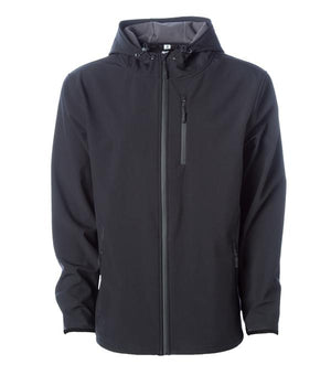soft shell black waterproof jacket