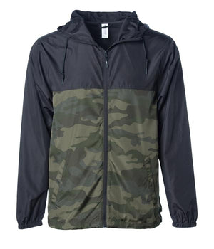 Decoy windbreaker zip black camo hoodie