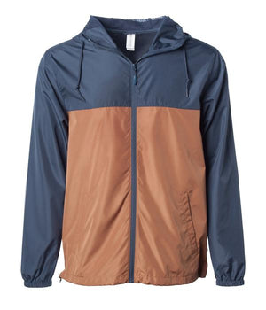 windbreaker zip blue saddle hoodie