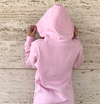 Pink Swarm Unisex Pull Over Hoodie with hoodie up