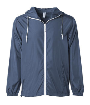 Decoy windbreaker zip blue hoodie