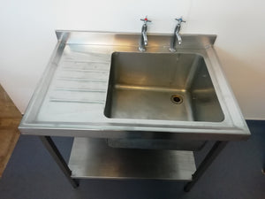 900mm pot wash sink