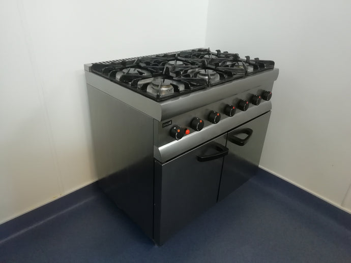 Lincat Silverlink 600 SLR9N 6 Burner Natural Gas Oven Range