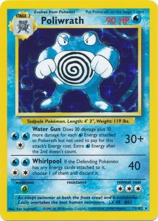 Poliwrath - 13/102 - Holo Rare Unlimited