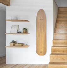 Load image into Gallery viewer, Alaia surfboard handmade paulownia wood decoration interior surf surfer art surfart homesurf