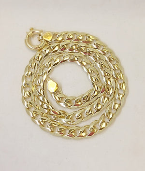 Solid Gold Curb D-Link Chain