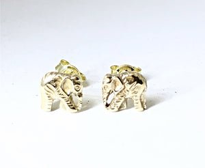 Gold 3D Elephant Body Earrings