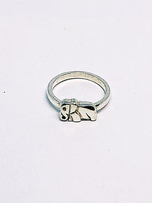 Silver Single Elephant Ring