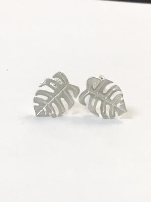 Silver earrings in delicious monster design.
