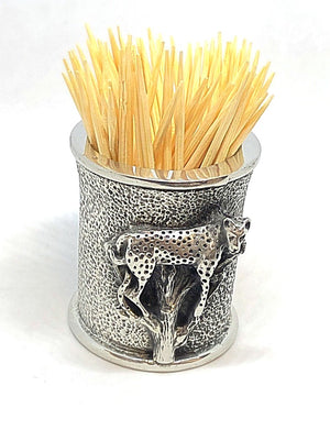 Toothpick Holder - Leopard Design