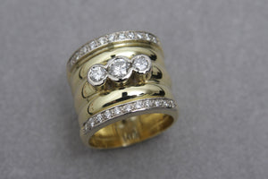 Yellow Gold and Diamond Dress Ring