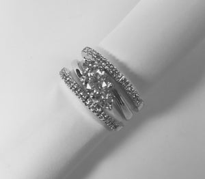 White Gold Engagement or Wedding Ring