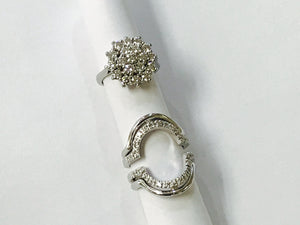 White Gold Engagement and Wedding Ring