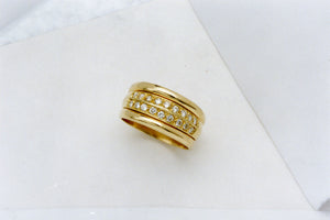 Yellow Gold and Diamond Engagment or Dress Ring