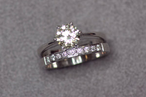 White Gold Engagement Ring or Wedding Ring