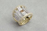 White and Yellow Gold Dress Ring