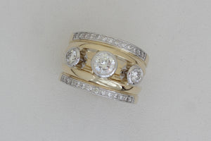 White and Yellow Gold Engagement Ring