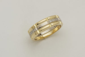 Yellow Gold Wedding Band for Men