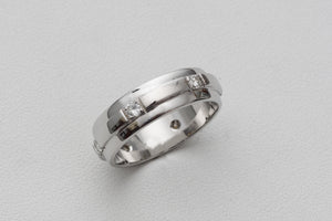 White Gold Wedding Band for Men