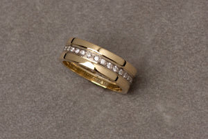 Yellow Gold Wedding Band Set for Men