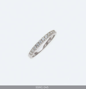 Silver Eternity Ring for Engagement or Wedding with Cubic Zirconia
