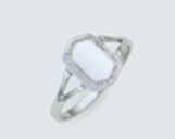 Silver Shield Panel Ring