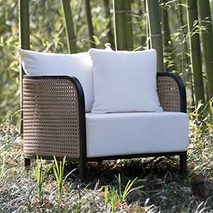 Shaw Cane Back Outdoor Chair