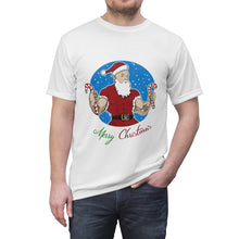 Load image into Gallery viewer, Unisex AOP Cut & Sew Tee santa