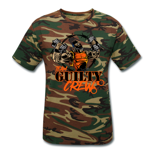 Unisex Camouflage T-Shirt - green camouflage