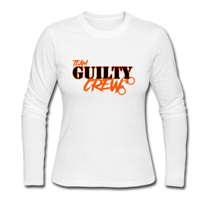 Women's Long Sleeve Jersey T-Shirt - white