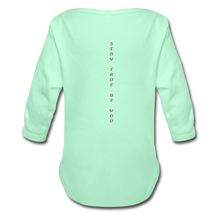 Load image into Gallery viewer, Organic Long Sleeve Baby Bodysuit - light mint