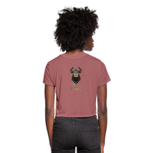 Load image into Gallery viewer, Women's Cropped T-Shirt - mauve