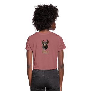 Women's Cropped T-Shirt - mauve