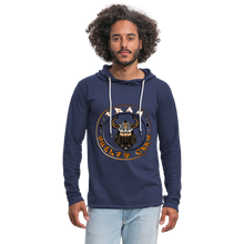 Load image into Gallery viewer, Unisex Lightweight Terry Hoodie - heather navy