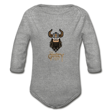 Load image into Gallery viewer, Organic Long Sleeve Baby Bodysuit - heather gray