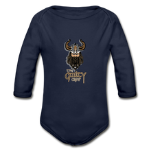 Load image into Gallery viewer, Organic Long Sleeve Baby Bodysuit - dark navy