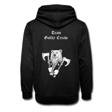Load image into Gallery viewer, Unisex berserker Collar Hoodie - black