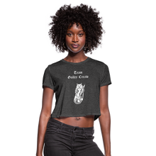 Load image into Gallery viewer, Women's Cropped T-Shirt valkyrie - deep heather